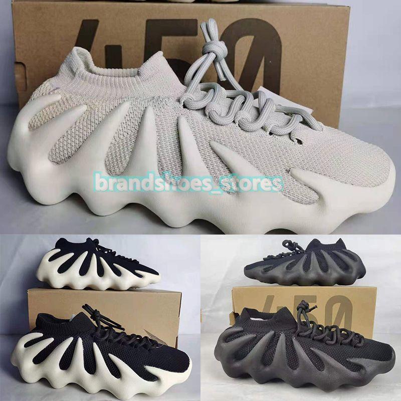 Sapatilhas de corrida Kanye West 450, branco nuvem, ardósia preta, sapatilhas de malha Oreo 700 creme azul brilhante 500 de sal blush 700v3 masculino, feminino, tênis esportivo