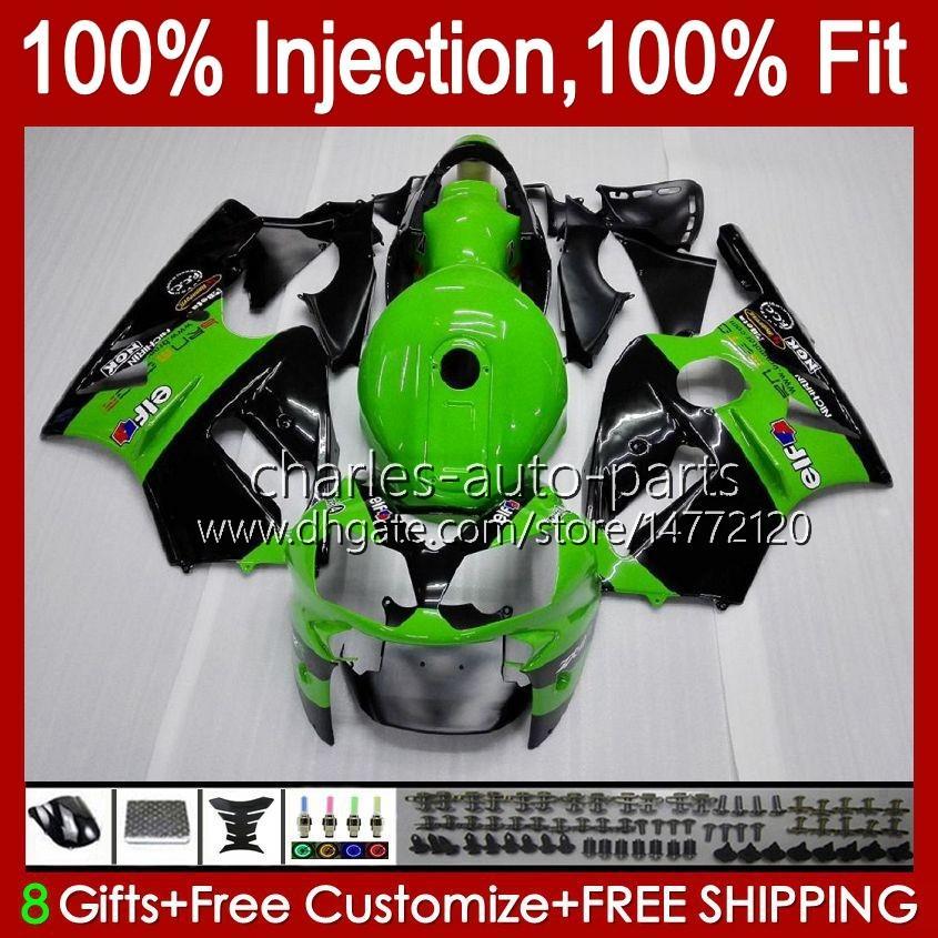 100% Injecção apto para KAWASAKI ZX1200 C ZX 1200 12R 1200cc 00 01 estoque verde novo 48HC.3 ZX 12 R ZX12R kit 00 01 2000 2001 ZX12R OEM carenagem