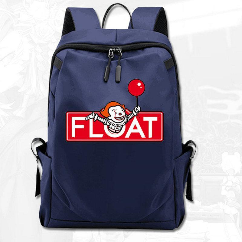تعويم ظهره ستيفن King IT Film Day Pack You Sloing Bag كمبيوتر محمول حقيبة كمبيوتر محمول جودة حقيبة الظهر الرياضة المدرسية في الهواء الطلق Daypack