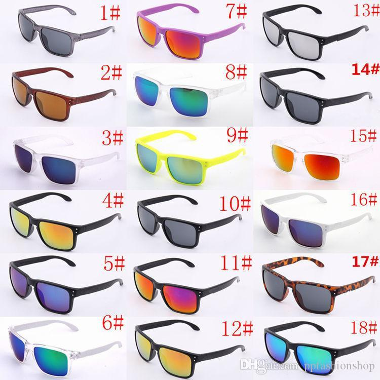 Lunettes de soleil de luxe UV400 Protection Hommes Femmes Unisexe Summer Shade Eyewear Sport extérieur Vélo Sun Verre 18 couleurs