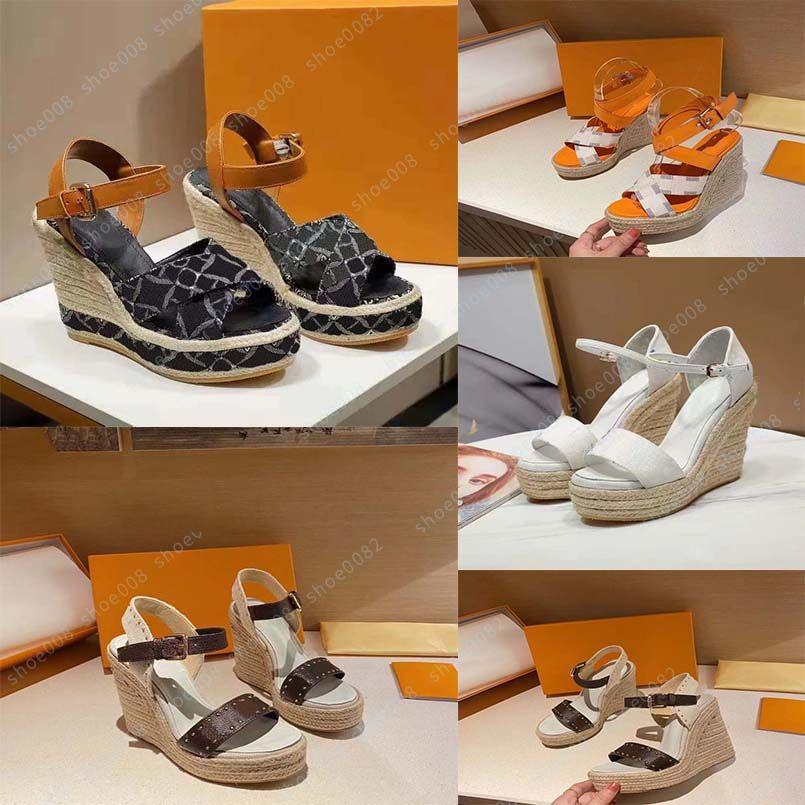 Luxo Liso Sandal Design Bordado Black Chinelos Praia Raso Lazer Lazer Lace Bloqueio De Laço Conjunto completo de acessórios 35-41 Shoe008
