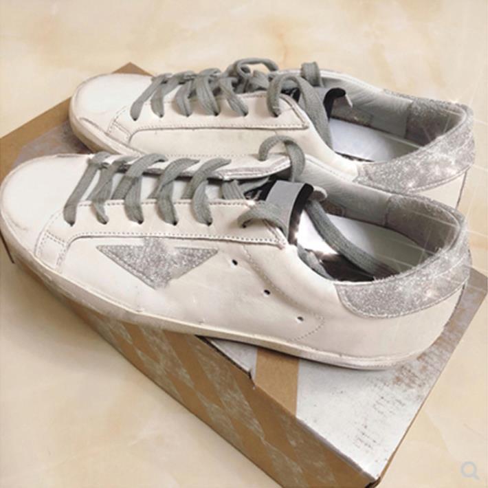패션 - 골든 바구니 운동화 신발 클래식 화이트 DOOL 디럭스 스팽글 더러운 디자이너 남자 캐주얼
