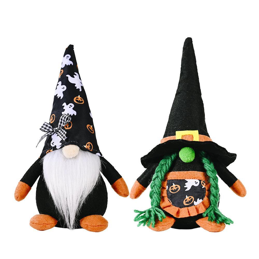 Партии для вечеринок Хэллоуин украшения плюшевые гномы безликие кукла орнаменты для дома торговый центр Windows XBJK2107