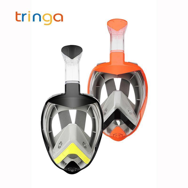 Subaquático Mergulho Anti Nevoeiro Rosto Full Diving Máscara de Oxigênio Snorkeling Máscaras Respiratórias Seguras e Impermeáveis