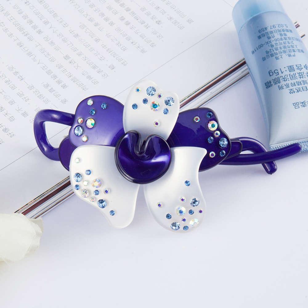 Japan und Südkorea Inlaid Diamant Blume Vertikale Clip Horsail Clip Kopfschmuck Zurück Von Kopf Haarnadel Top Haarnadel Schmuck Medium Twist