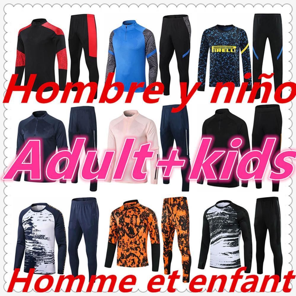 Человек Chandal Futbol Man и Kids Kit Surrey Phoot Jerseys 20 21 Футбольный трексуит Мужская футбольная Джерси Учебная куртка