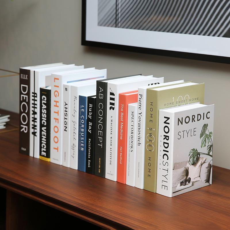Livro de Simulação Simples Moderno Luxo Livro Decorativo Decoração Soft Livro Falso Decoração Prop Prop Livros Casa Mobiliário Criativo