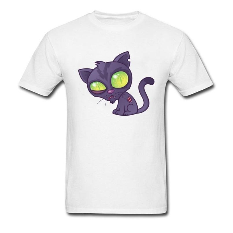 Schöne Männer T-Shirts Rundhals Zombie Kätzchen Com Tisch Jojo Bizarre Adventure Herren T-Shirt in Moskau Ized 210420