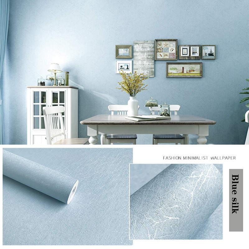 Стены наклейки льняные узор толстые водонепроницаемый из ПВХ самоклеящиеся обои Мгновенная стикер спальня гостиная фон размер 10 м * 45см