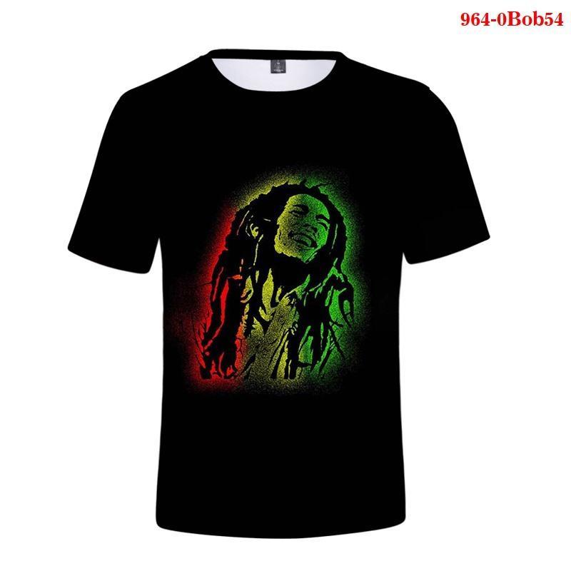 Fshion 3d camiseta hombres verano nueva camiseta casual ropa de hombre ropa pop tops pop Bob Marley Unisex Streetwear
