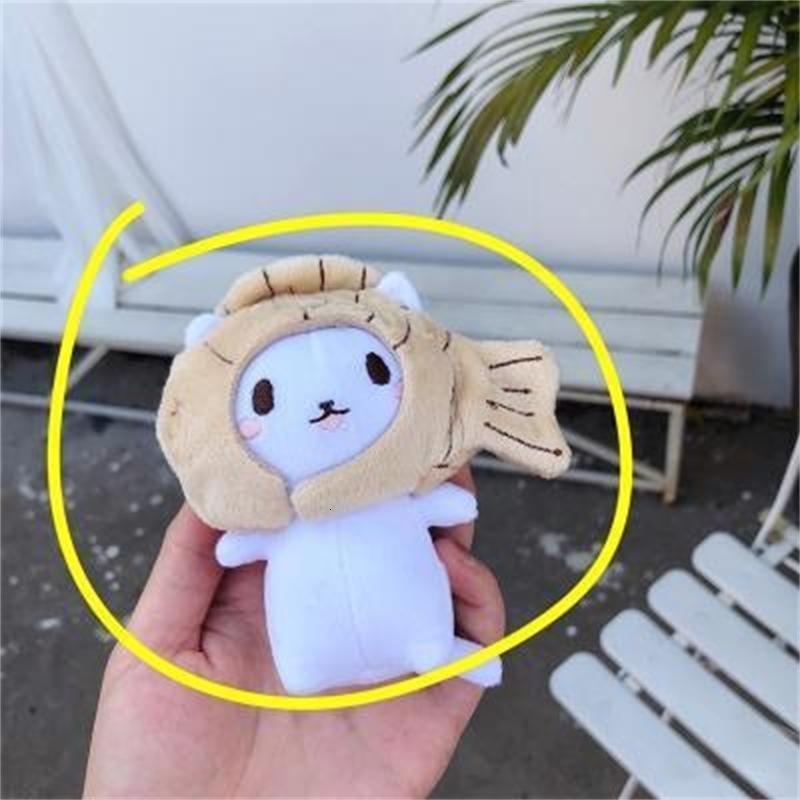 Плюшевые куклы Корейский морской лещ жареный кошка кукла кукла милая ключевая сумка