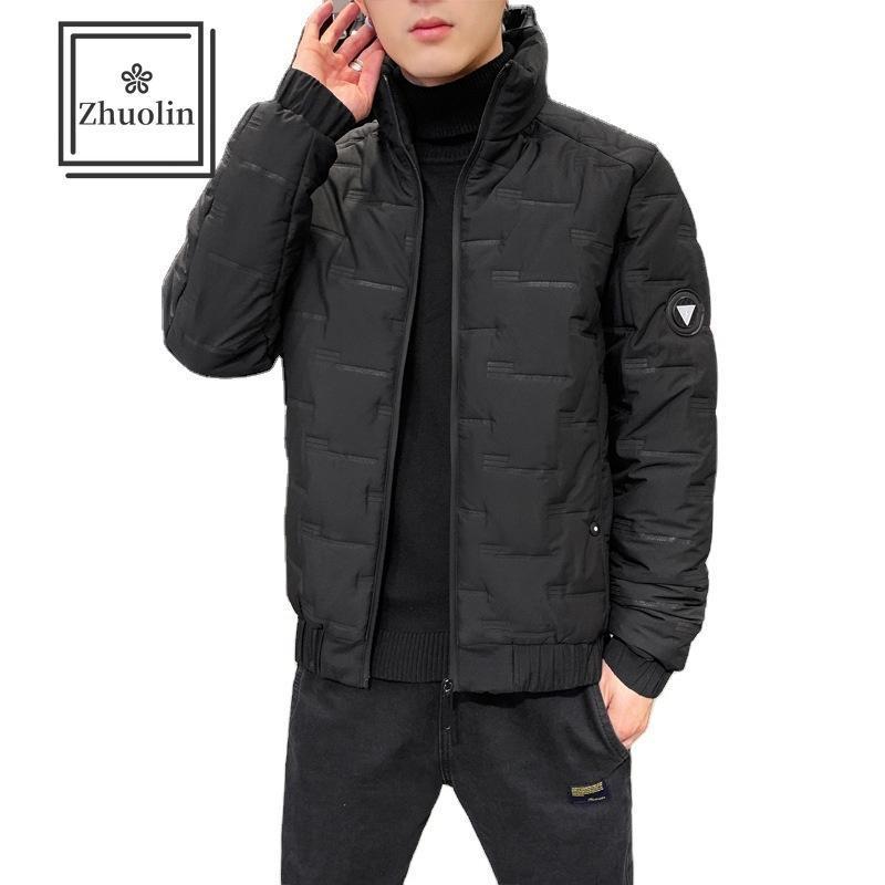 Chaquetas para hombres Zhuolin 2021 otoño invierno y chaqueta para hombre con capucha con capucha guapo