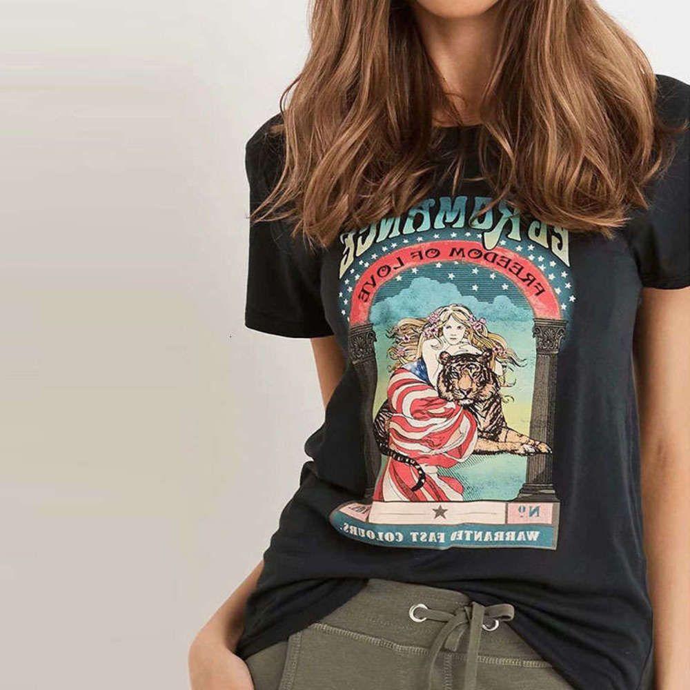 Elbiseler Rahat Kalite Etnik Baskılı T-shirt Kısa Kollu Üst Kadınlar PB9T007E