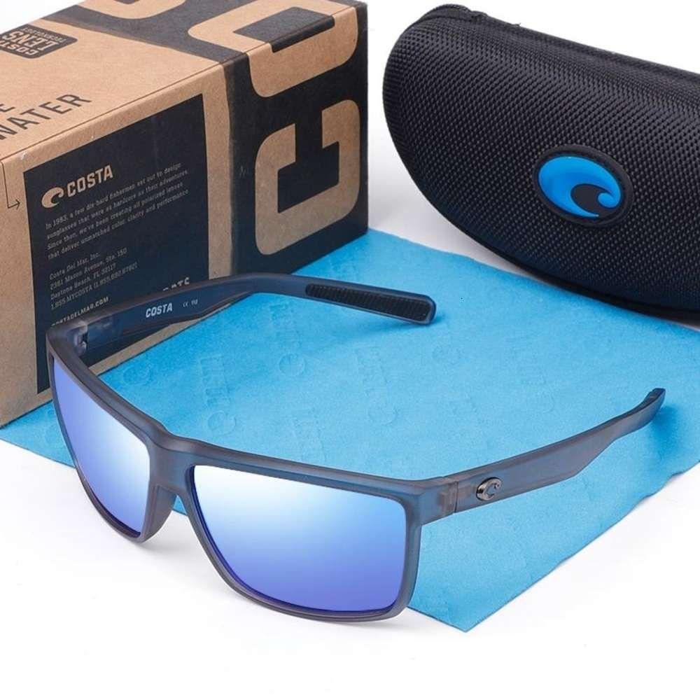 580P Gafas de sol cuadradas Hombres Marca de diseño Deporte espejos polarizados Revestimiento Ejecución gafas Hombre UV400 Oculos