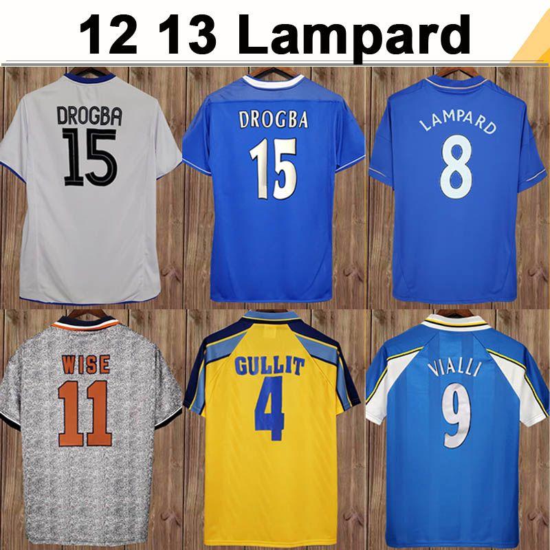 12 13 LAMPLARD ROBBEN CRESPO DROGBA MENS Short Soccer Jerseys 2011 2012 2012 Torres Mata Daviid Luiz Hogar de la camisa de fútbol de manga larga