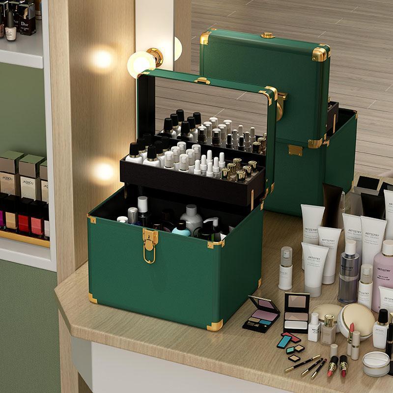 Sac de maquillage de voyage haut de gamme étanche cosmétique maquillage maquillage portable grande capacité de stockage boîte valise sacs cassettes
