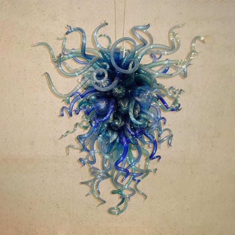 북유럽 아트 장식 램프 파란색 벽 조명 LED 플러시 탑재 된 블로운 유리 램프 sconces 20x28 인치