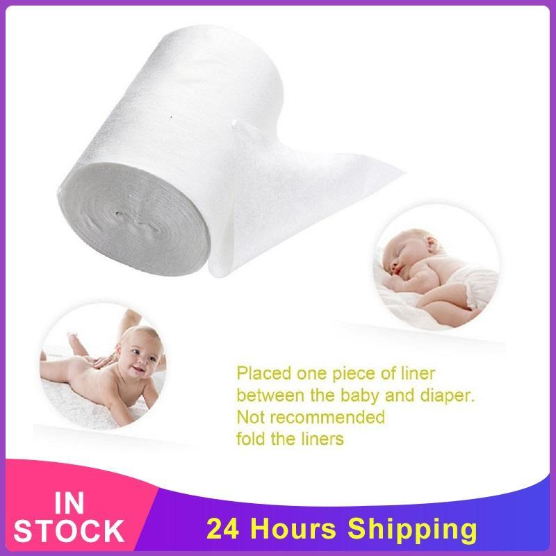 200/300 unids Bebé Prefold Paño Pañal Inserto Desechable Desechable Nappy Bamboo Liners Soft Unl Cotton Pañales