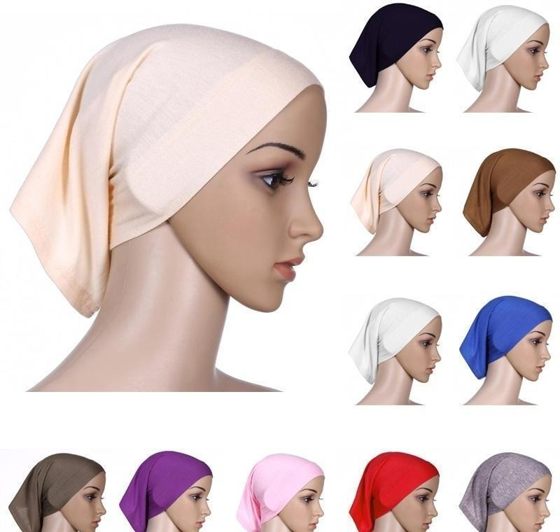 Bandanas Мусульманские женщины Внутренний Hijab Headscarf Cap Islams Caper Hats Hats Ninja Carrf Ramadan Strech Cotton Caps Caps 2XEQD FJN5B