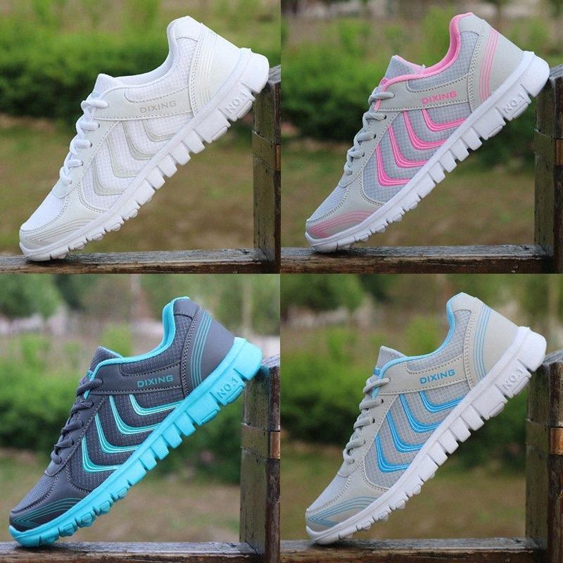 Bayan Mesh Düz Sonbahar Loafer'lar Yeni 2019 Bayanlar Yumuşak Alt Konfor Nefes Yürüyüş Ayakkabıları Kadın Moda Rahat Ayakkabı W60t #