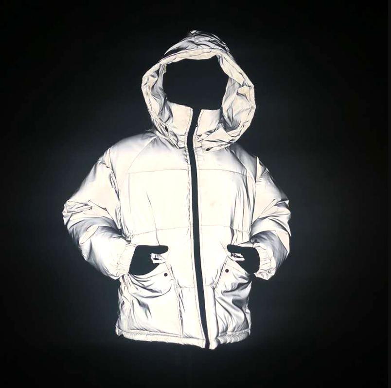 겨울 남성의 밤 안전한 스노우 자켓 코트 두꺼운 따뜻한 빛 반사 overcoat 숙녀 코튼 코트 다운 파카