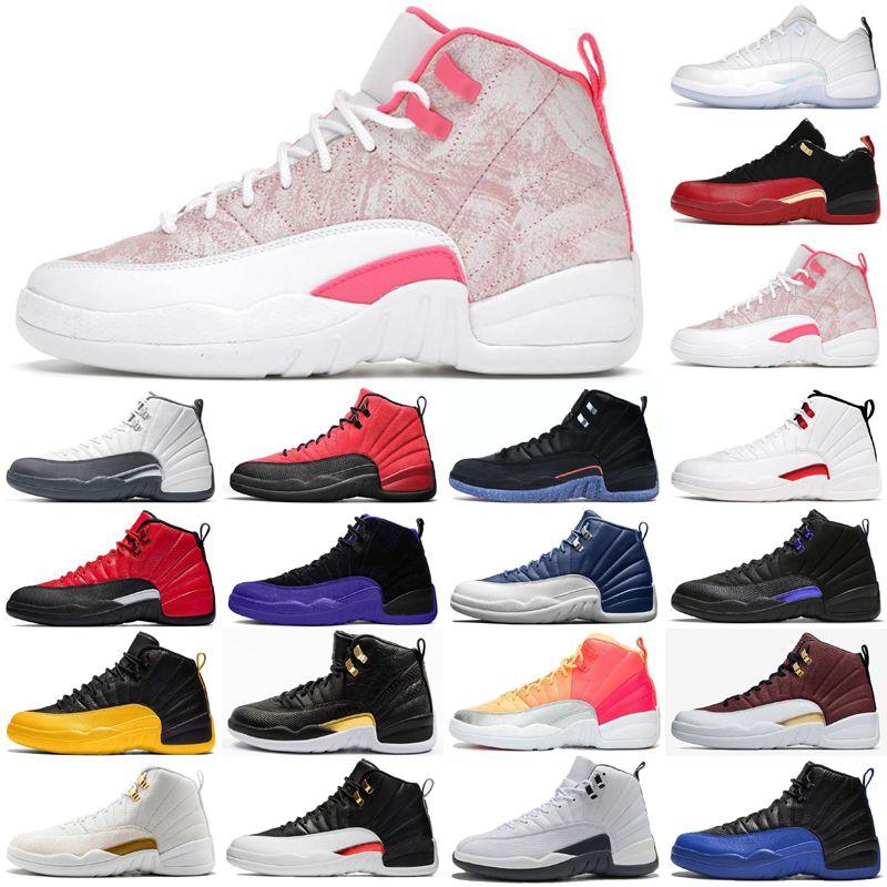 12 12 ثانية أعلى جودة أحذية كرة السلة منخفضة الفصح jumpman 23 فائدة المرأة رجل أحذية رياضية تويست xii الأزرق الجامعة الذهب الجليد الآيس كريم لعبة الرجال المدربين حجم 13