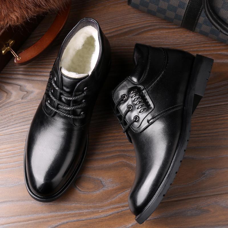 Boot Genuine Pelle di uomini Teddy Scarpe per il freddo Stivaletti da sposa da uomo invernale 2021 G5XC