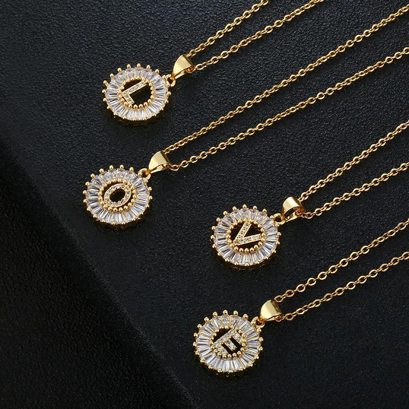 Kimter Hip Hop Jewelry 개인화 된 알파벳 펜던트 목걸이 라인 석 편지 목걸이 스테인레스 스틸 크리스탈 A-Z 체인 무료 DHL K21FA