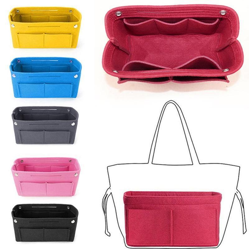 Make Up Organizer Sentier Insert Sac pour sac à main pour sacs à main Porte-monnaie intérieure Sacs cosmétiques portables Ajustez divers cas de grande capacité de marque