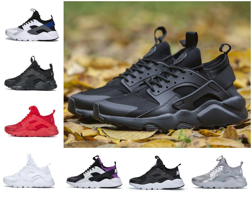 2021 Treinadores de chegada Huarache Ultra 4.0 Surache Correndo Tênis para Mens Womens Triple Branco Todos os Black Huraches Harache Sneakers