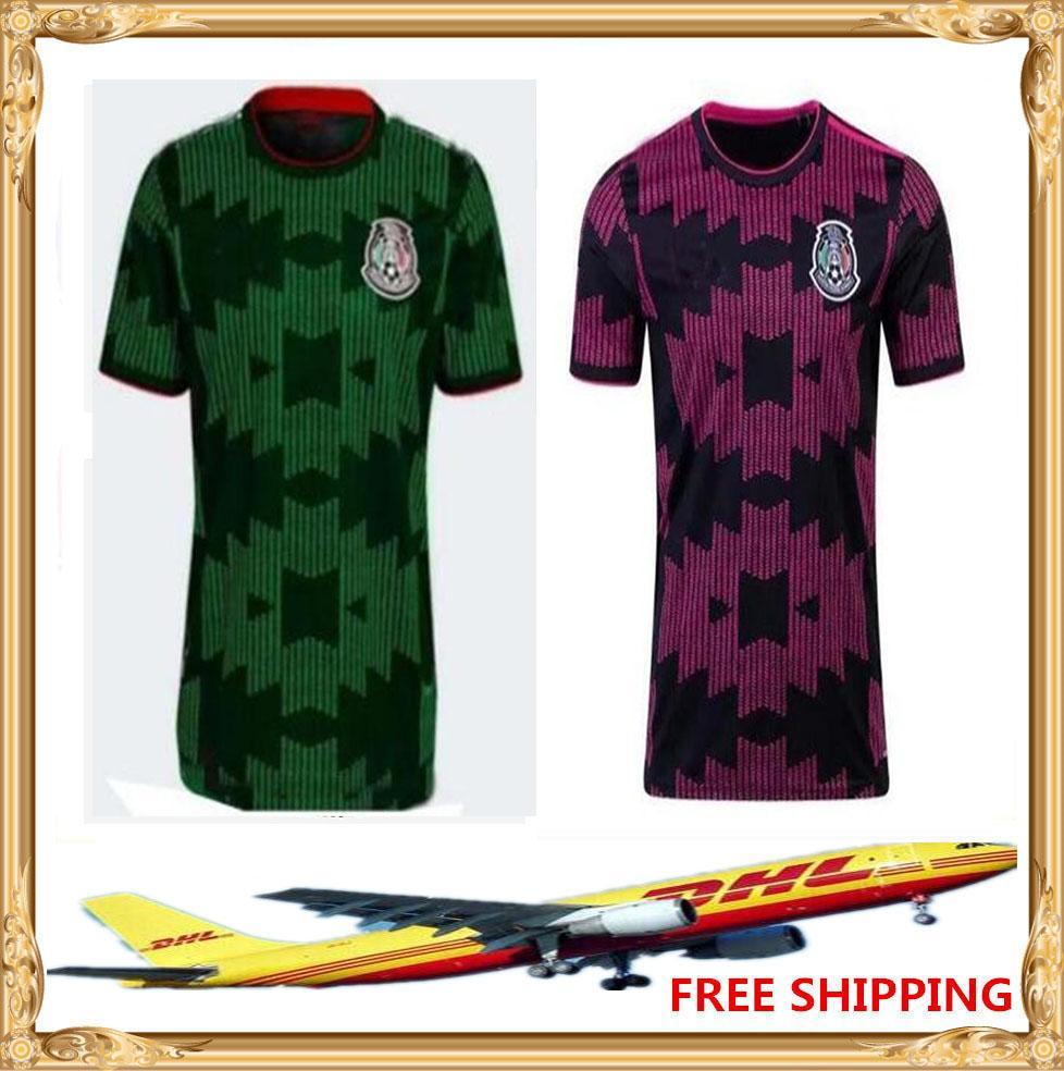 DHL бесплатно отправить 2021 футбол Джерси мужчины женщин дети домой 21 22 Мексика футбольные рубашки размер S-XXL