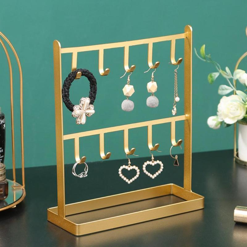 Schmuckbeutel, Taschen Creactive Rack Halter Halskette Armband Ohrringe 2 Ebenen Display Stand Wear-Resistant Organizer Showcase