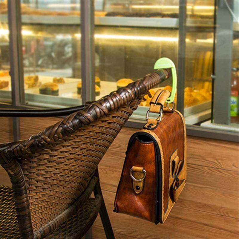 Sacchetto di plastica rimovibile Gancio Portatile Borsa portatile Portabicchieri Handbag Green Brown Rosa Blu 4 colori PA872427 Ganci GACKS