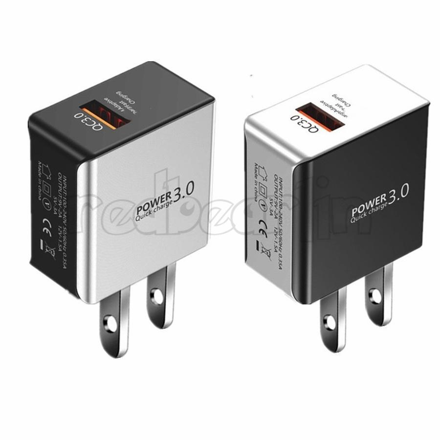 QC3.0 شاحن الجدار السريع EU US 5V 3A 9V 2A USB شاحن الهاتف لآيفون 8 × 11 Samsung S10 S20 LG مع صندوق البيع بالتجزئة