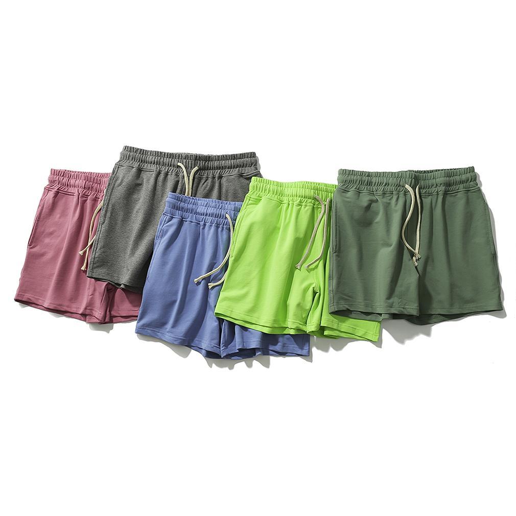 Sexy homewear soild cotton männer schwitzen shorts gym athletisch laufende jogging sport französische terry kurze hosen