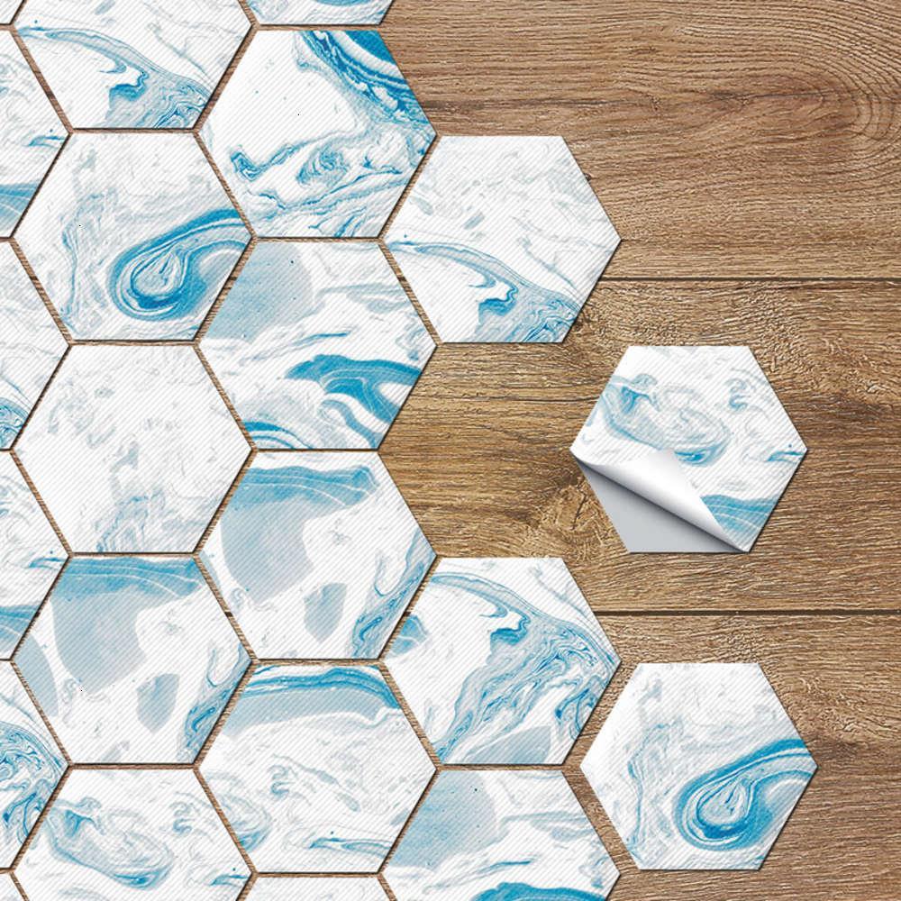 Adesivos decorativos Ristant e antiderrapante desgaste de parede PVC auto adhive toalete telha de chão hexagonal