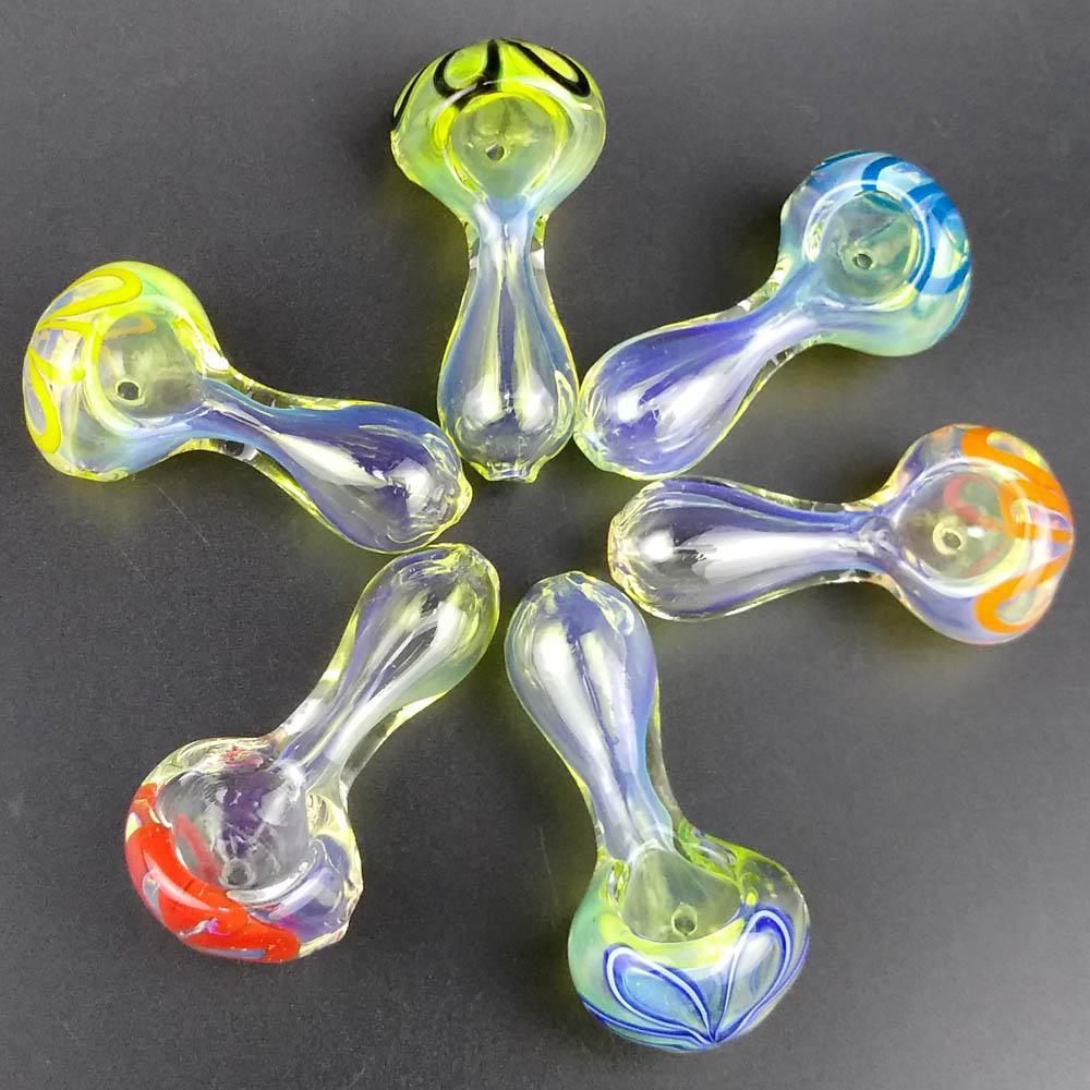 Tubos de fumar con vidrio Apariencia Beatuful Tabaco Tubería Mini Tubería de Vidrio 2.5 pulgadas Tubos de mano Larga Mejor Tubos Cuchara Colores Mixtos