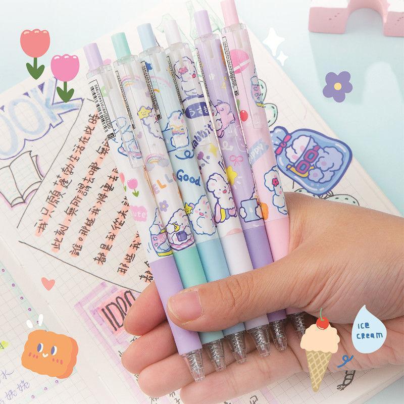 Cartoon Heshuo Rabbit 7995 Milk Press Neutral Pen 0.5 Bullet