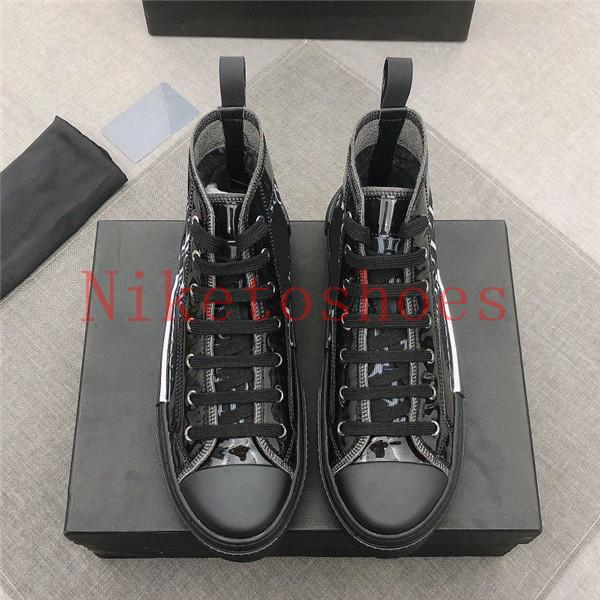 19SS B23 Sneaker high-top Sneaker rosse Scarpe da donna in tela obliqua con pannelli trasparenti Pizzo tecnico Uomo Casual Classic Scarpa casual