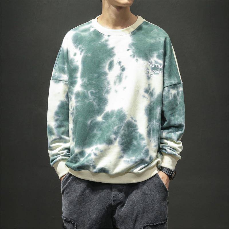 Мужские толстовки для толстовки камуфляны камуфляжные мужчины мода печатание повседневная капюшона о-образная шейка хлопчатобумажная толстовка мужчина уличная одежда свободный хип-хоп пуловер толстовки M-5