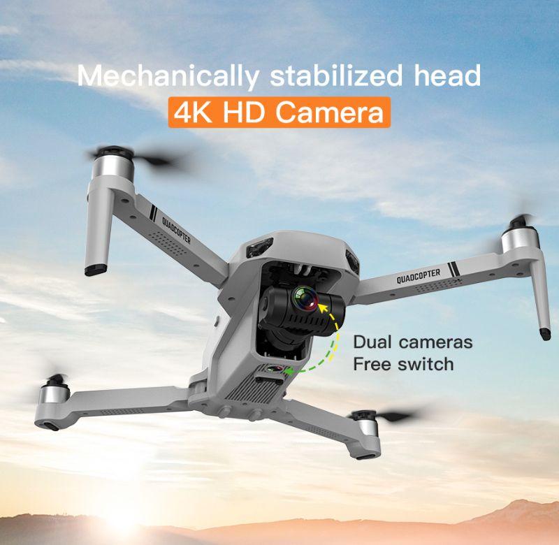Kf102 ptz 4 كيلو 5 جرام واي فاي الكاميرا الكهربائية gps الطائرات بدون طيار عدسة مزدوجة مصغرة الطائرات بدون طيار في الوقت الحقيقي ناقل الحركة fpv طوي rc quadcopter لعبة بدون طيار مع حقيبة