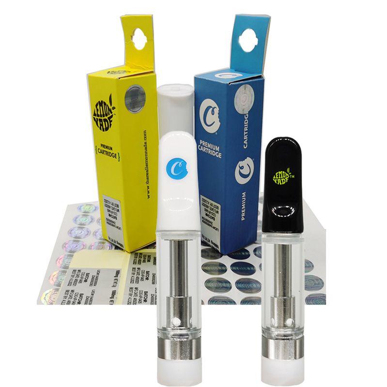 Çerezler 510 Seramik Vape Kartuş Ambalaj Sınırlı Sayıda Atomizer Boş Vapes Kalem Kartuşları 0.8 ml 1 ml E-Sigaralar Vaping Arabaları Kalın Yağ Buharlaştırıcı Kalemler