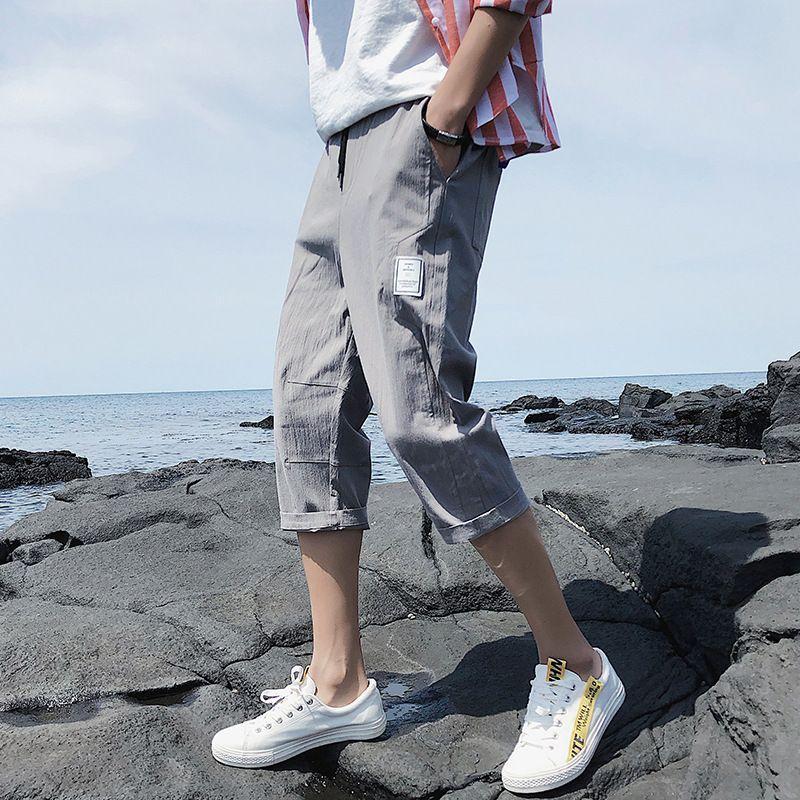 Perth Capris Pantalones casuales Pantalones de moda coreanos Pantalones cortos de verano Baggy Threams delgado Ropa de los hombres