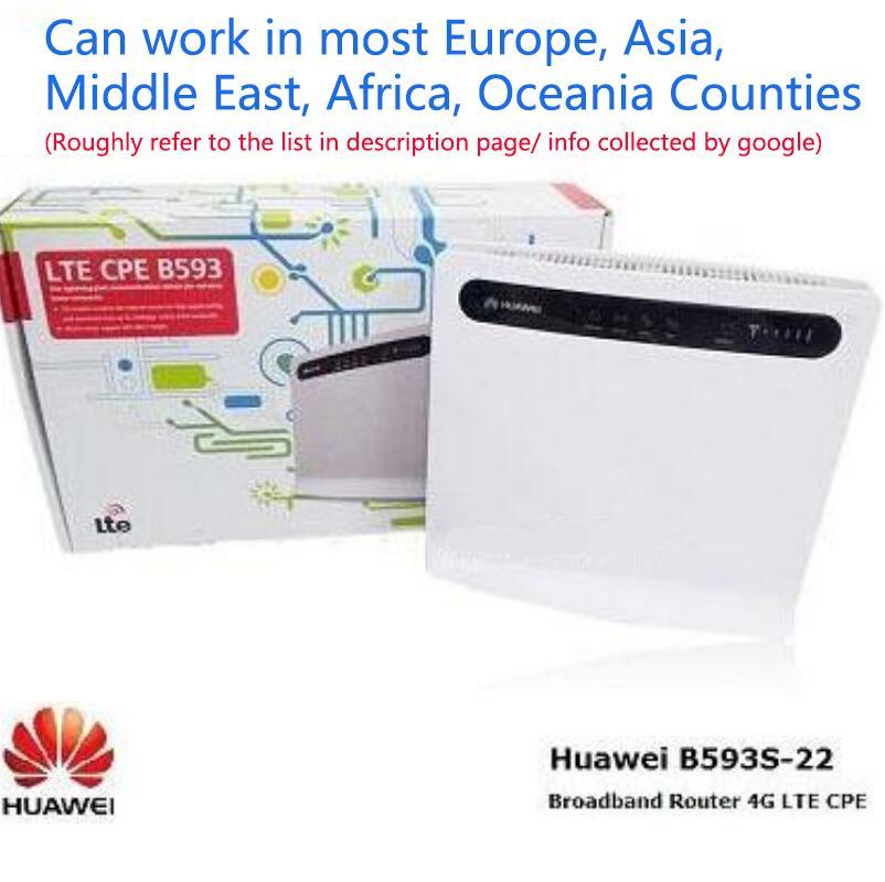Unlocked Huawei B593S-22 4G LTE CPE Yönlendiriciler FDD 5 Bantlar TDD 2600 MHz 150 Mbps Kablosuz WiFi PK B3000 B593U-12 B593S-12 WLAN RJ11