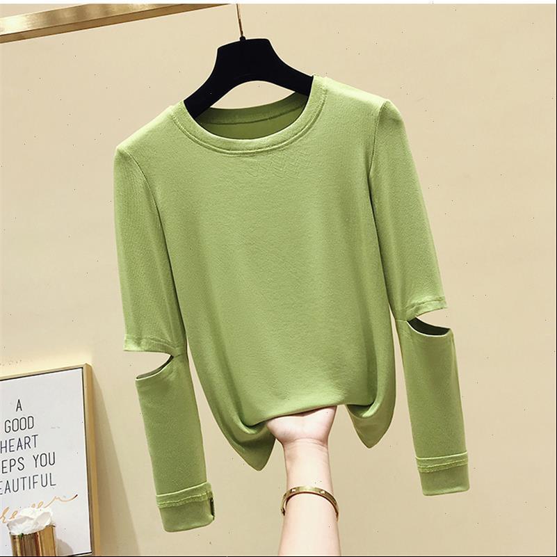 Loch mit Frauen T Shirts Langarm Casual Shirt für Mädchen Tops T-Shipster