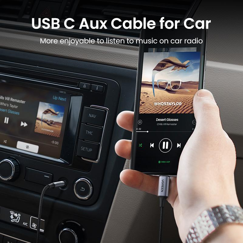 USB C to 3.5mm Audio Aux Cable Type C 3.5 mm Headphone Male Jack Plug Adapter Car Auxiliary Stereo Cord for iPad Pro