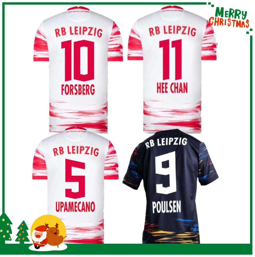20 21 Bundesliga Club Football Jersey 2020 Sabitzer Haidara Poulsen Forsberg Home Away Sports Soccer Shirt