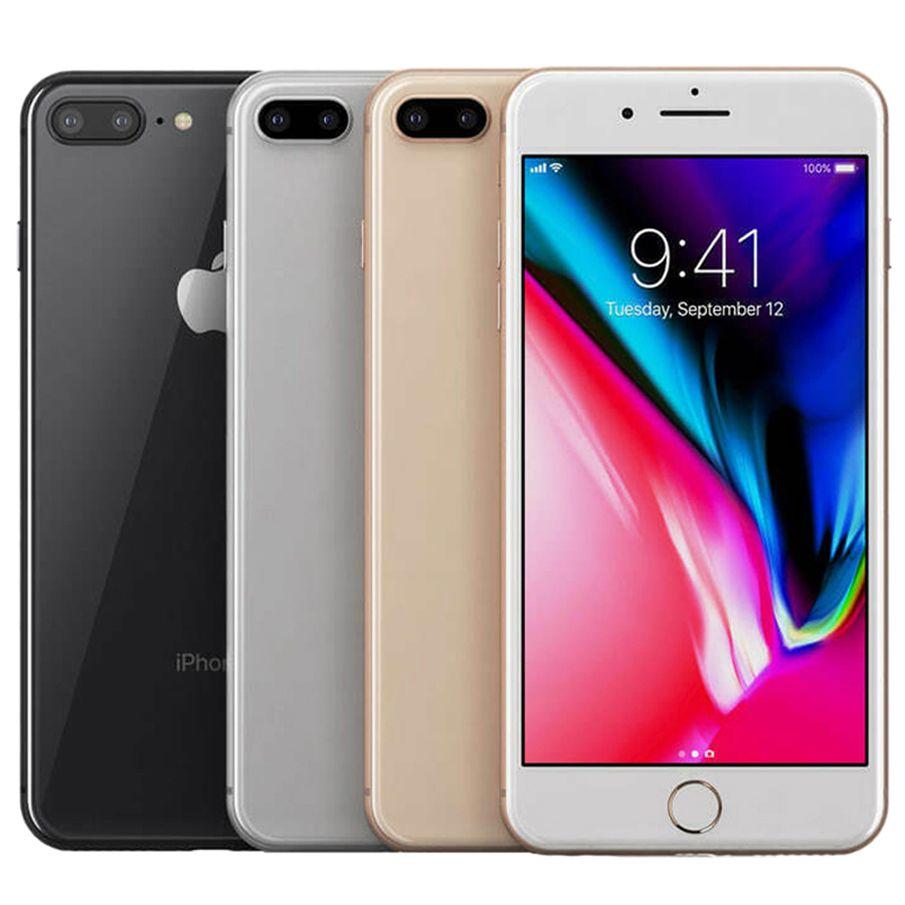 Refurbished Original Apple iPhone 8 Plus 5.5 inch Fingerprint iOS A11 Hexa Core 3GB RAM 64/256GB ROM Dual 12MP Unlocked 4G LTE Phone Free DHL 5pcs