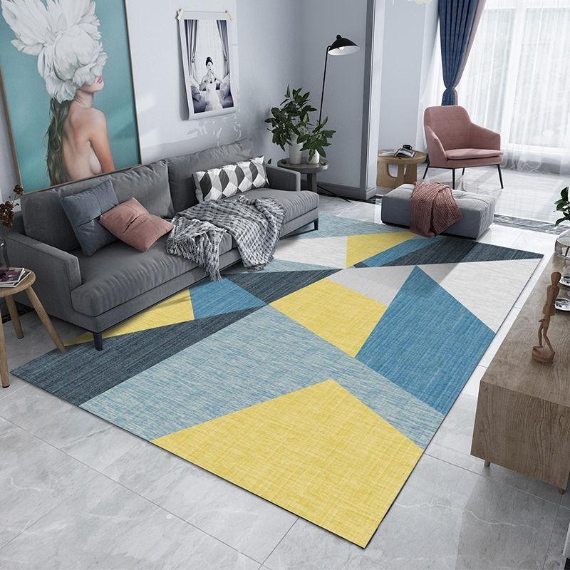 Teppiche Moderne geometrische gedruckte Eingangstürmatte Anti Slip Home Deco Boden im Badezimmer Wohnzimmer Teppich Küche WC