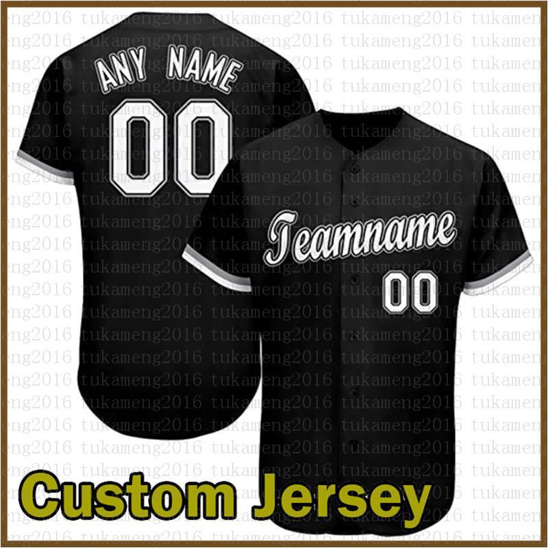 مخصص شيكاغو الجدة زر أسفل البيسبول الفانيلة شخصية مراوح القميص للرجال تيماني الاسم والعدد للحصول على هدية مخيط أسود متعدد الألوان